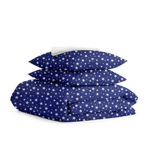 Комплект семейного постельного белья STARFALL BLUE ZIGZAG