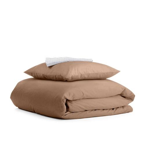 Комплект подросткового постельного белья RANFORS BROWN DOTS GREY