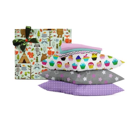 Подарочный набор CAKE /розово-фиолетовый/
