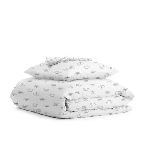 Комплект подросткового постельного белья CROWN /горох серый/