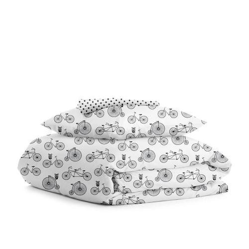 Комплект подросткового постельного белья BIKE /горох на белом/