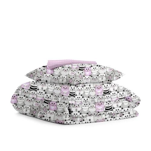 Комплект детского постельного белья CATS ROSE /горох на розовом/