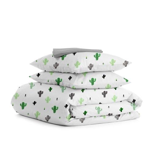 Комплект полуторного постельного белья CACTUS GREY