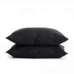 Комплект евро взрослого постельного белья сатин GREY BLACK-P
