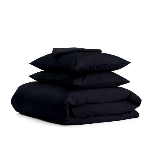 Комплект евро взрослого постельного белья сатин BLACK