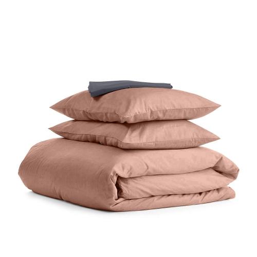 Комплект семейного постельного белья сатин BEIGE GREY-S