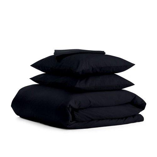 Комплект семейного постельного белья сатин BLACK