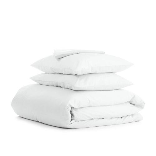 Комплект евро взрослого постельного белья RANFORS WHITE WHITE