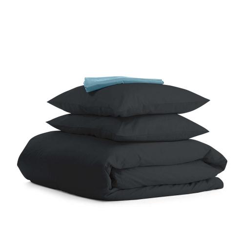 Комплект евро взрослого постельного белья RANFORS BLACK SKY