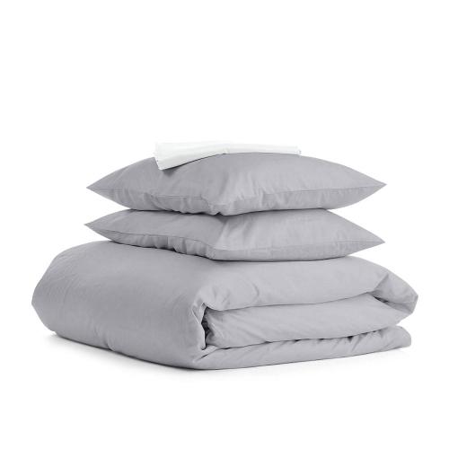 Комплект полуторного постельного белья RANFORS GREY WHITE
