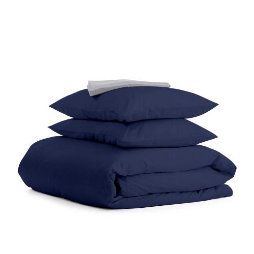 Комплект евро взрослого постельного белья RANFORS BLUE GREY