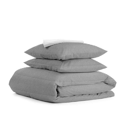 Комплект полуторного постельного белья LINE GREY