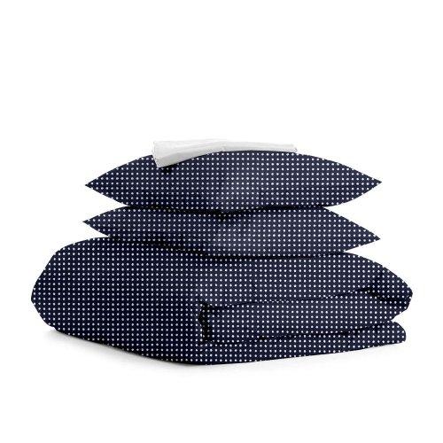 Комплект семейного постельного белья DROP WHITE BLUE