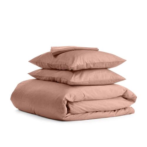 Комплект семейного постельного белья сатин BEIGE