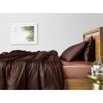 Комплект евро взрослого постельного белья сатин CHOCOLATE BEIGE-S