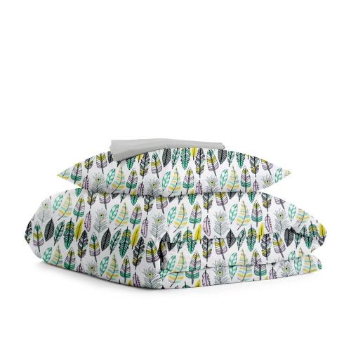 Комплект подросткового постельного белья FEATHER GREY GREY /простынь на резинке 90х200х20/