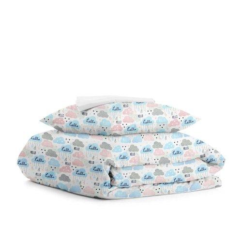 Комплект подросткового постельного белья CLOUD HELLO WHITE /простынь на резинке 90х200х20/