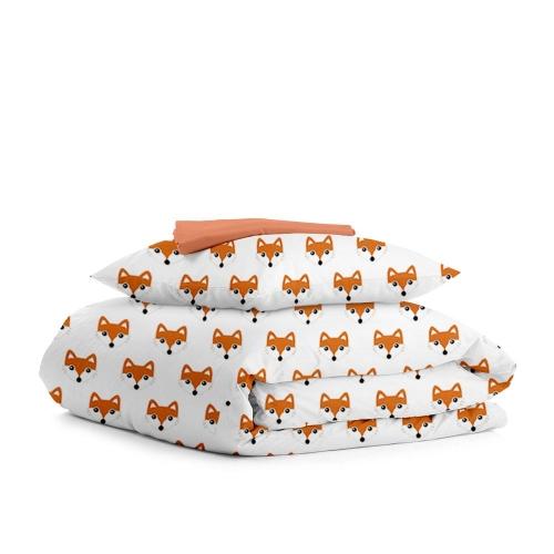 Комплект подросткового постельного белья FOX PAWS TERRAKOT /простынь на резинке 90х200х20/