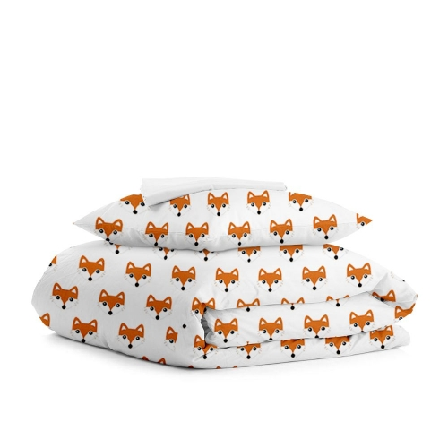 Комплект подросткового постельного белья FOX PAWS WHITE /простынь на резинке 90х200х20/