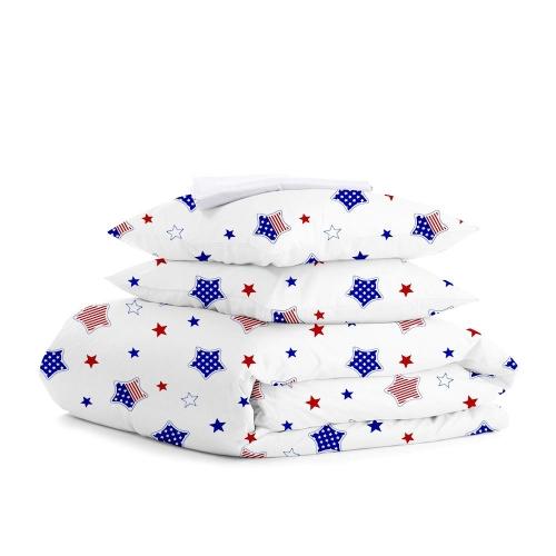 Комплект евро взрослого постельного белья STAR AMERICA WHITE
