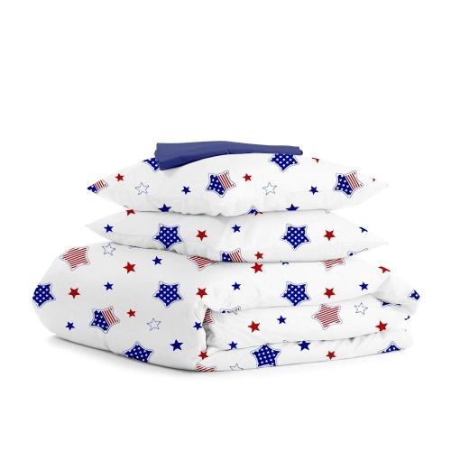 Комплект евро взрослого постельного белья STAR AMERICA DARK BLUE